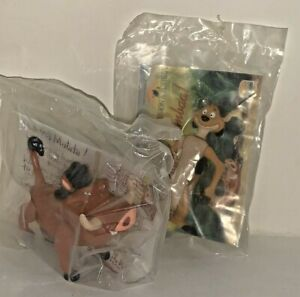 Burger King Kids Meal Greetings From Timon & Pumbaa Lot of 2 Toys (1994)