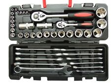 40Pcs Socket & Wrench Set In Handy Carry Case