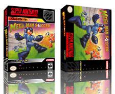 Mega Man Soccer SNES Replacement Game Case Box + Cover Artwork Art (No Game)