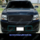 Fits 2007-2014 Tahoeavalanchesuburban Bumper Black Mesh Grille Grill Insert