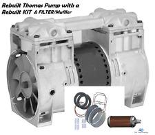 Fish Pond Aerator Pump Compressor 3+Cfm 1/3Hp Aeration Motor+Rebuild Kit+ Filter
