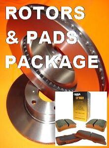 Saab 9-3 9-5 Turbo11/2002-2006 285mm FRONT Disc brake Rotors & PADS PACKAGE