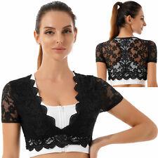 Sexy Women Hollow Out Deep V Neck Lace Crop Top Summer T-Shirt Blouse Tank Top L