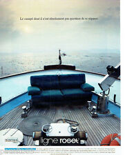 PUBLICITE ADVERTISING 056  1988  Ligne Roset   canapé salon Opus Alcantara