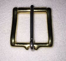 "1/2"" Solid Brass Belt Buckle With Roller"