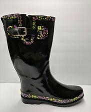 Western Chief Black Pop Multi Rain Boots Womens 7