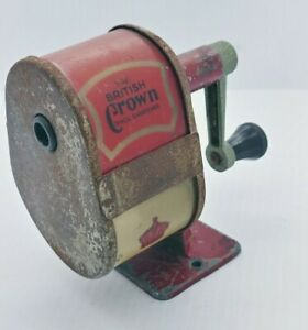 Vintage The BRITISH CROWN PENCIL SHARPENER VELOS No.3400 Made in England