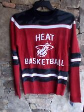 Miami Heat Nba Basketball Sweater Xl Officially Licensed Nba Crew Neck Lslv Nwt