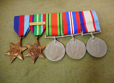 #D458.    WWII  GROUP OF FIVE(5)  AUSTRALIAN WAR MEDALS - NX68624, W. A. RILEY