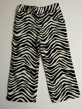 New Gymboree Wild One Zebra Print with Hot Pink Accent Velour Girls Pants Sz 2T