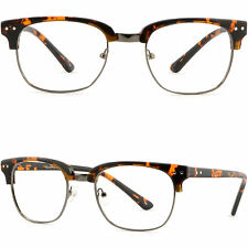 Browline Plastic Men Women Frame Prescription Photochromic Glasses Tortoiseshell