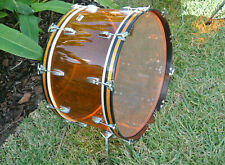 "LUDWIG USA 26"" CLASSIC AMBER VISTALITE BASS DRUM for YOUR DRUM SET! LOT #E730"
