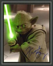STAR WARS YODA FRANK OZ A4 SIGNED AUTOGRAPHED PHOTO POSTER
