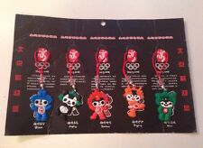 Set of 5 Mascot Beijing 2008 Olympic cell phone charms new in package