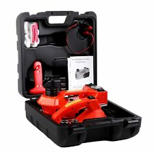 12V DC 3T Electric Hydraulic Floor Jack Lift Lifting Set with Impact Wrench