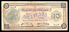 Mexico, Estado de Oaxaca 10 Pesos 26-5-1915, M3374c/SI-OAX-14.7 VF