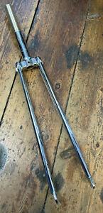 """Retro Tange 26'' / 700c Chromed Steel Forks 1"""" Threaded Steerer. Speedway. *NOS"""