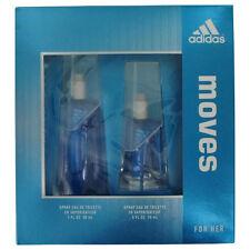 Adidas Moves Perfume Women Gift Set 1 oz Eau De Toilette Spray Fragrance New
