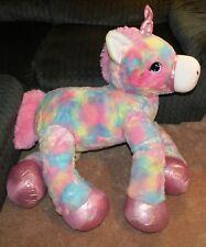 Jumbo Unicorn Plush Rainbow 3FT Huge Pink Tie Dye with FREE Necklace /& Headband
