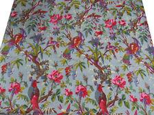 10 Yard Ethnic 100% Bird Screen Print Indian Cotton Fabric Sewing Decor fabric