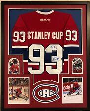 Framed Montreal Canadiens Patrick Roy & John Leclair Signed Jersey Jsa Coa