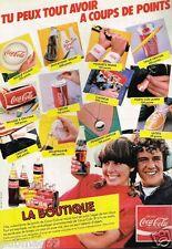 Publicité advertising 1983 La Boutique Boisson Coca-Cola