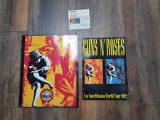 GUNS N' ROSES Use Your Illusion: Photobook 1991+Brochure with ticket stub 1992