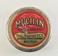 Vintage Fly Fishing Mucilin Tin Thos Aspinall Carleton Chemical Works Bolton Uk