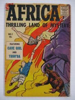 AFRICA #1 VG POWELL CAVE GIRL + THUNDA!