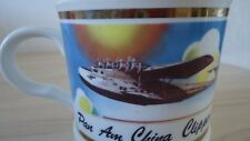 Vintage old Rare Pan Am China Clipper 50th Anniversary. Over sized cup mug glass