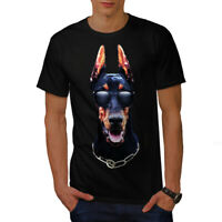 Wellcoda Doberman Animal Cool Mens T-shirt, Animal Graphic Design Printed Tee