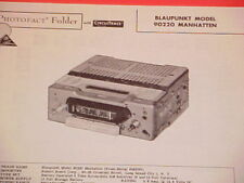 1962 BLAUPUNKT AM RADIO SERVICE MANUAL MODEL 90220 MANHATTEN (serial # 245001 +)