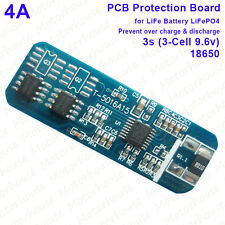 4A 9.6v 3s Cell 3 Packs LiFePO4 18650 Battery PCB BMS Protection Circuit Board