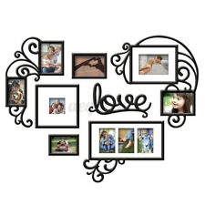 Large Heart Photo Frame Wall Sticker Acrylic Collage Picture Office Home Decor