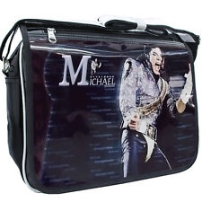 King Of POP Michael Jackson commemorate patent leather Shoulder Bag Messenger A#