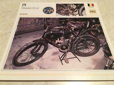 Carte moto FN vélomoteur 133 cm3 1902 collection Atlas Motorcycle
