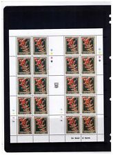 TUVALU STAMPS , FLOWERS,NICE LOT OF 6 MNH COMPLETE S/S  CV:$130.00