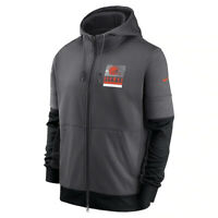 2020 Nike Cleveland Browns Sideline Impact Lockup Performance Full-Zip Hoodie