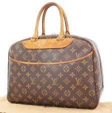 Authentic LOUIS VUITTON Deauville Monogram Hand Bag Purse #37377