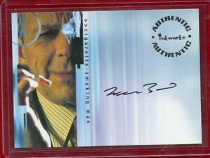 "CIGARETTE SMOKING MAN ""WILLIAM DAVIS"" THE X-FILE ACTOR CARD NUMBER A17 INKWORKS"