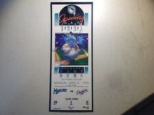 1993 FLORIDA MARLINS OPENING DAY COMPLETE TICKET N/STUB MINT LOS ANGELES DODGERS