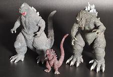 Godzilla Lot Of 3 Kaiju Monsters NECA Toho Bandai Free Shipping