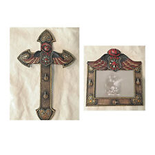 Fire Department Firefighter Photo Frame  And Matching Cross