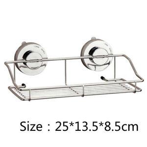 Dual Suction Cup Kitchen Sponge Sink Caddy Holder Brush Soap Drainer Rack Basket