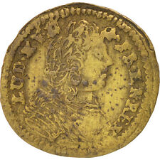 [#402615] France, Royal, Louis XV, France coat of arms, Token, AU(50-53), Brass