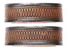 Antique Japanese Fuchi Shakudo Copper Wire Samurai Sword Fitting Tsuka Koshirae