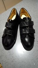 2OR UK Size 7 Black Ladies Leather Slim Fitting Women Comfort Medical Shoes