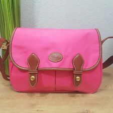 Longchamp Saddle Bag Messenger pink Tasche neuwertig