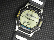 Rare Vintage Casio Digital Watch DATABANK ABX-58 FLOATING LCD TELEMEMO TWINCEPT