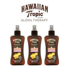 Hawaiian Tropic Dry Tanning Spray Oil SPF 15 x3